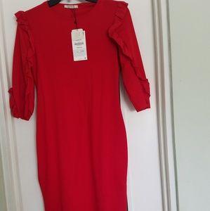 Zara Trafaluc Red Dress